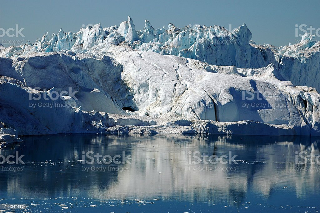 Glacial fjord, Llulissat, Greenland royalty-free stock photo