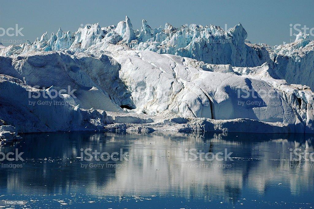 Glacial fjord, Llulissat, Greenland stock photo