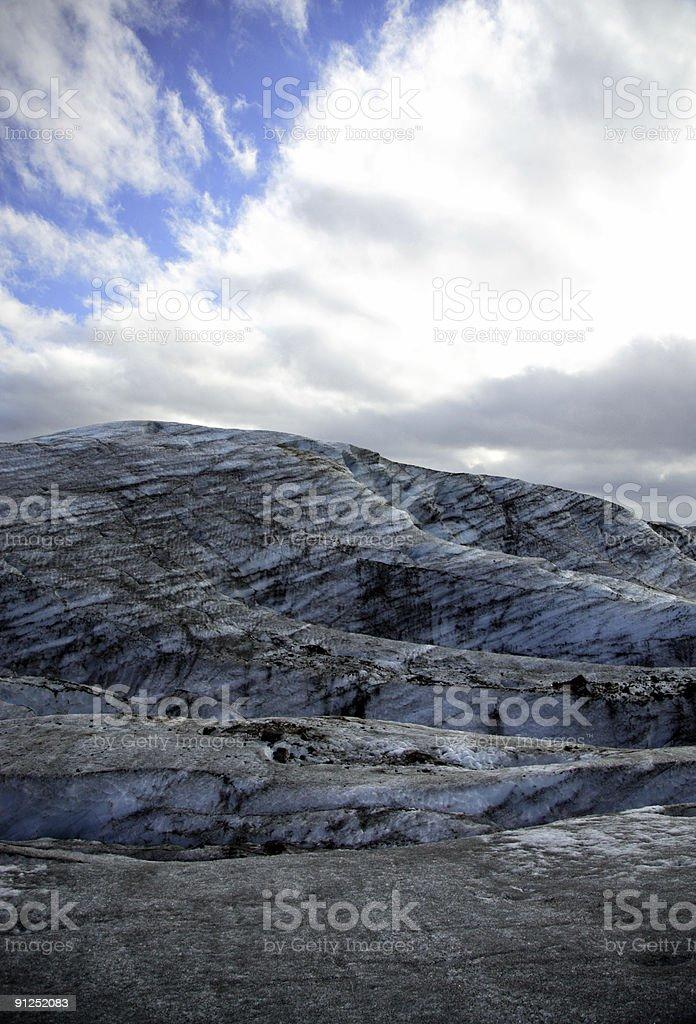 Glacial ice stock photo