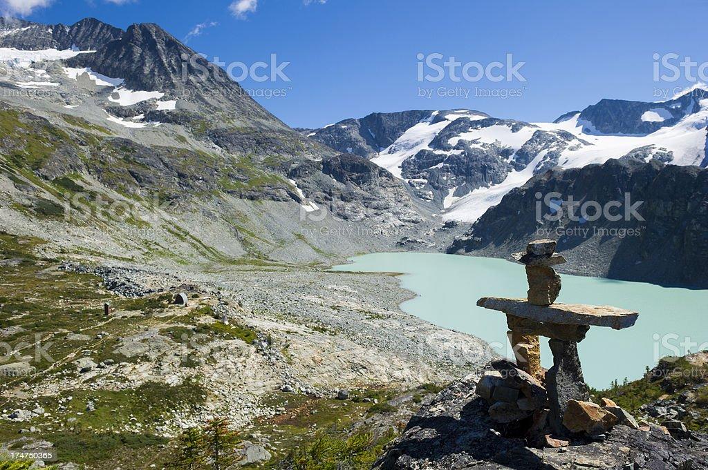 Glacial Lake stock photo