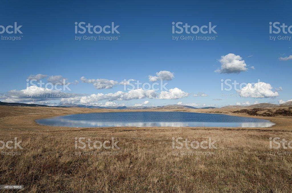 Glacial lake reflections stock photo