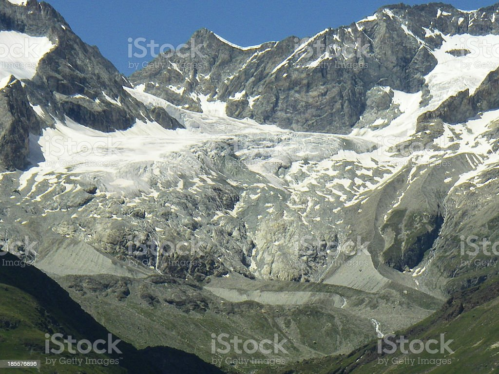 Glacial Landforms Swiss Alps Zermatt Switzerland stock photo