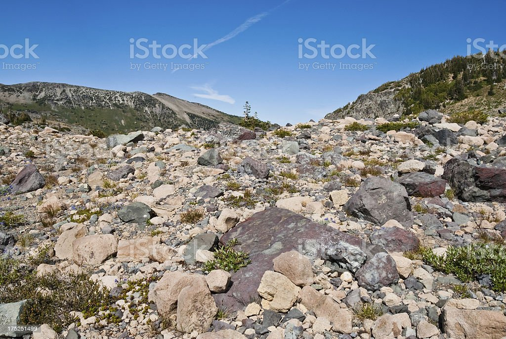 Glacial Moraine near Panhandle Gap royalty-free stock photo