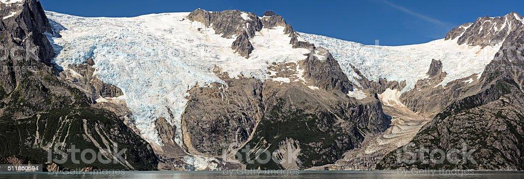 Glacial Panorama in Alaska stock photo