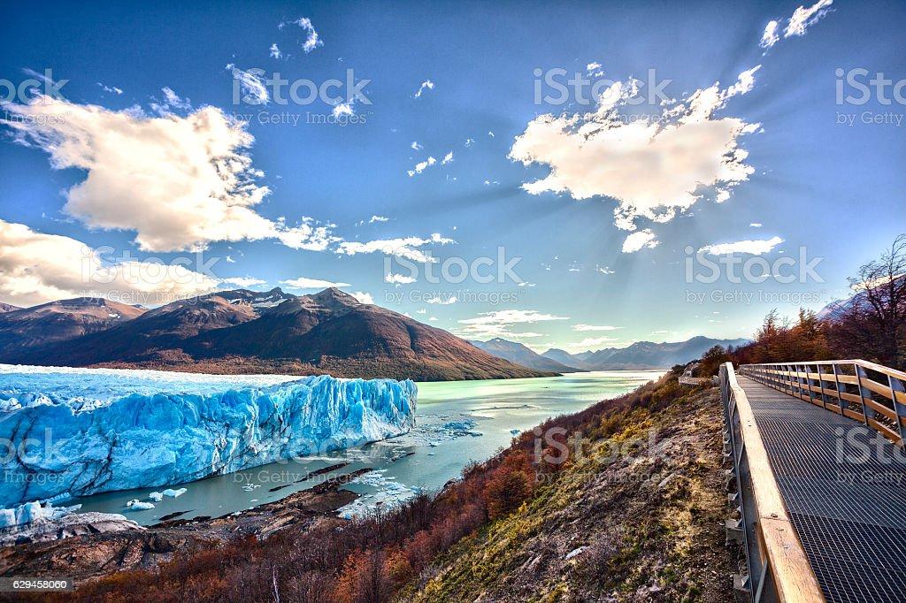 Glacial Perito Moreno, El Calafate, Argentina. stock photo