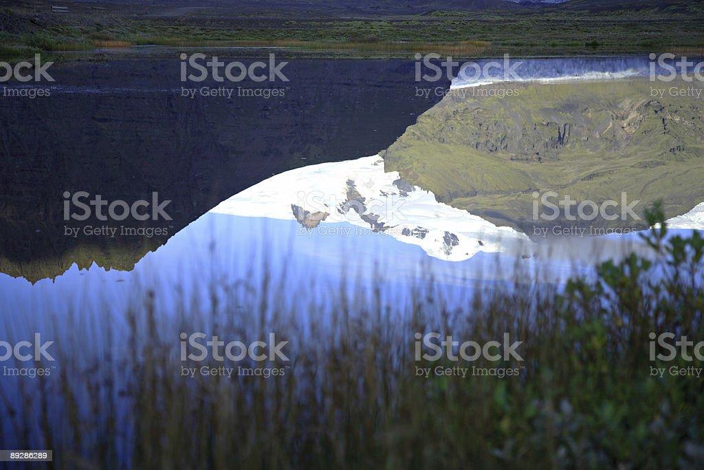 Glacial reflection stock photo