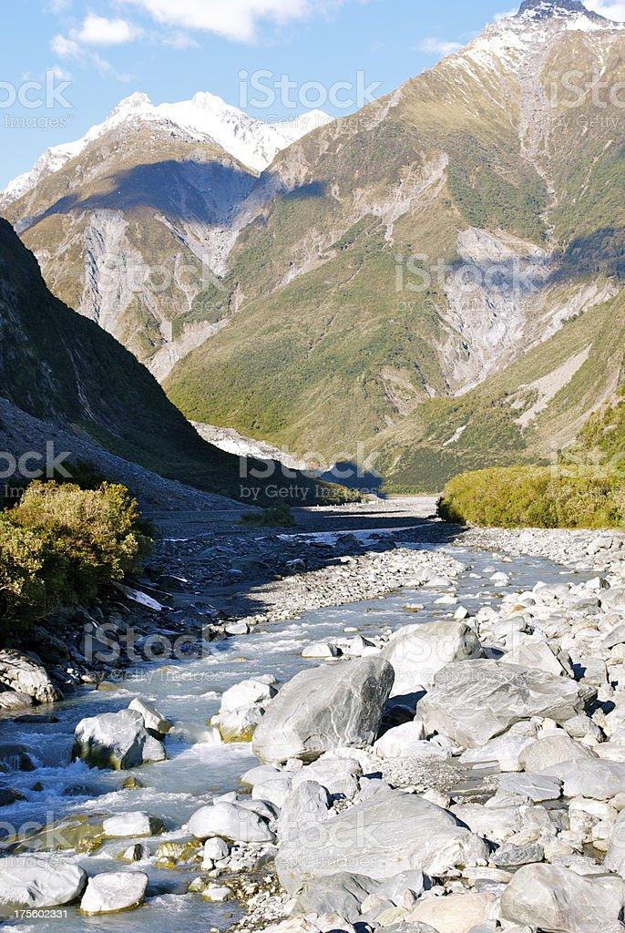 Glacial River, Westland National Park, New Zealand royalty-free stock photo
