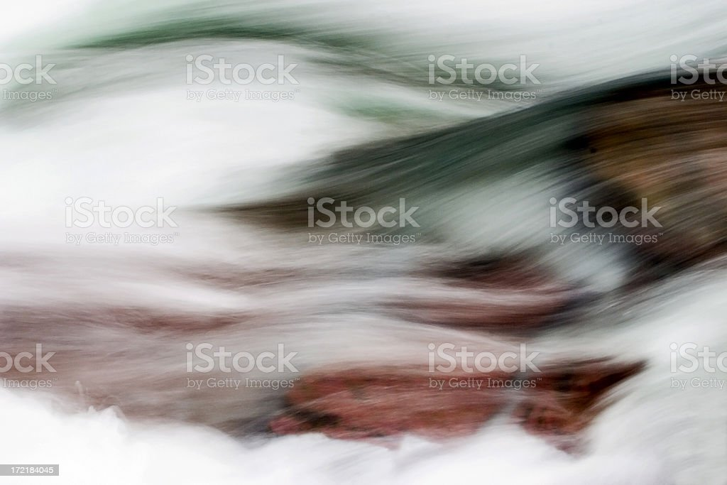 Glacial Stream Abstract royalty-free stock photo