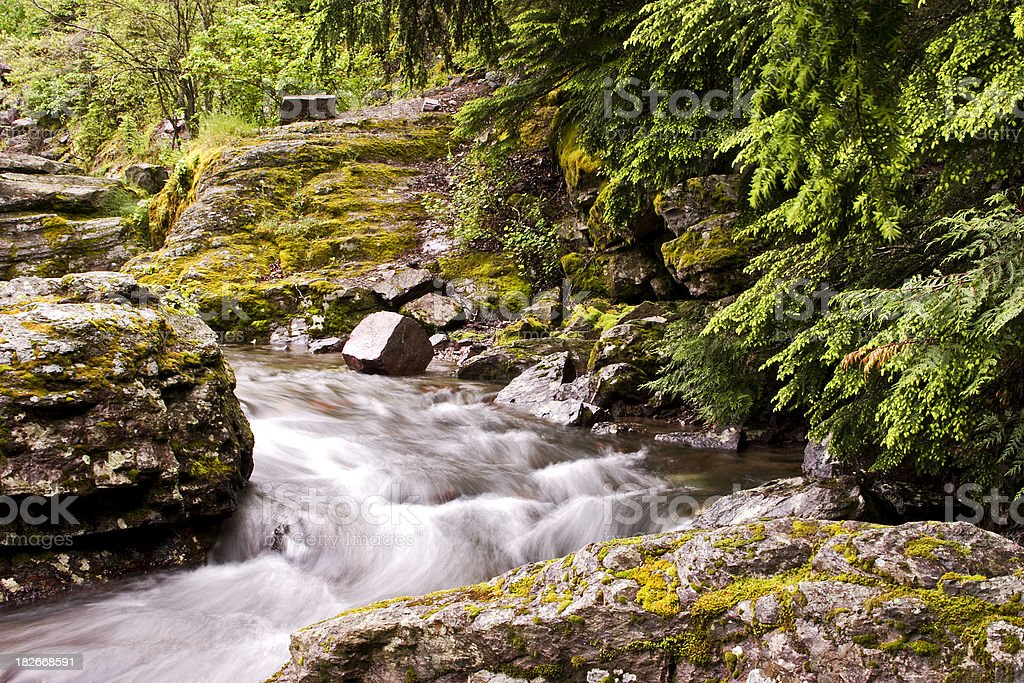 Glacial Stream royalty-free stock photo