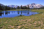 Glacial tarn small lake Tioga Pass Yosemite National Park California