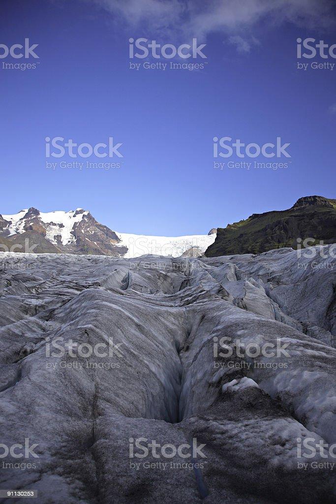 Glacial tongue stock photo