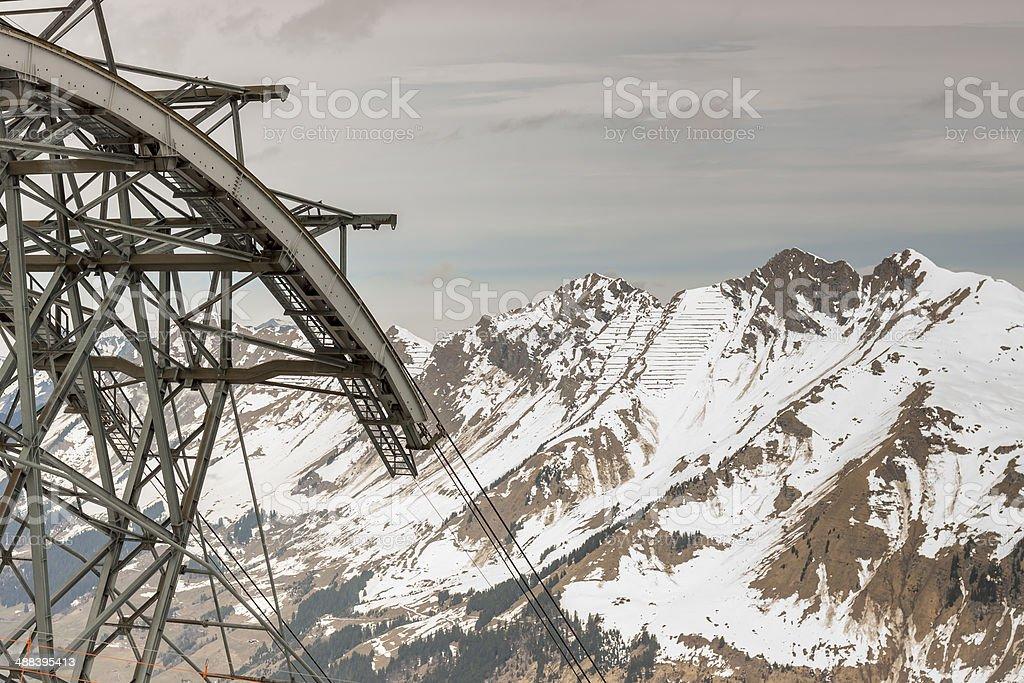 Glacier 3000 - Les Diablerets, Swiss. royalty-free stock photo