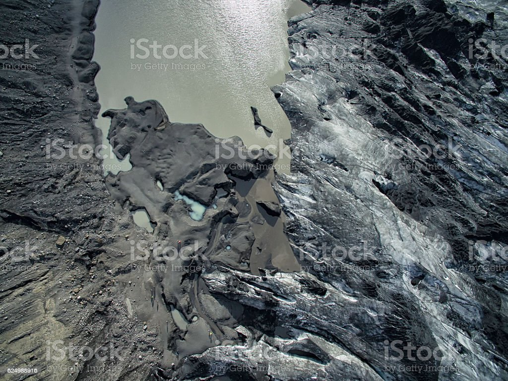 Glacier aerial photo stock photo