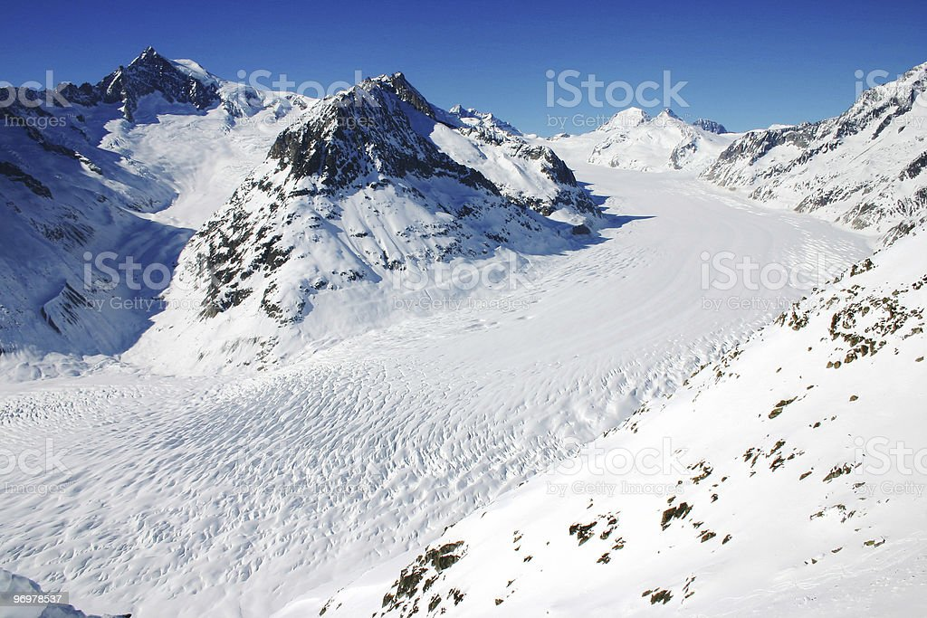 Glacier / Aletschgletscher stock photo