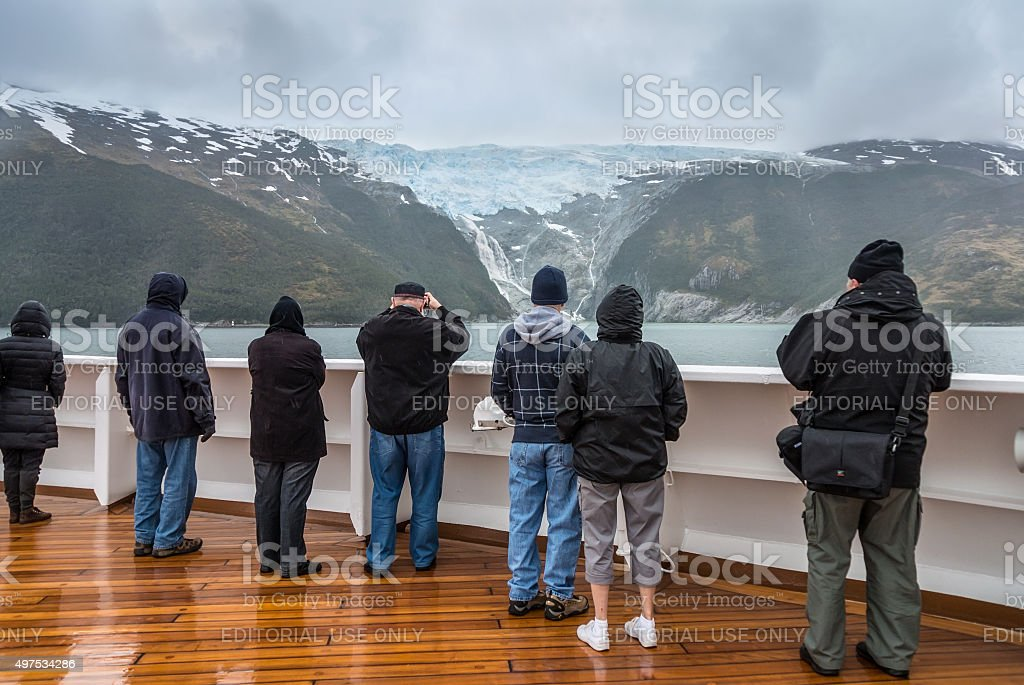 Glacier Alley, Beagle Channel, Chile stock photo