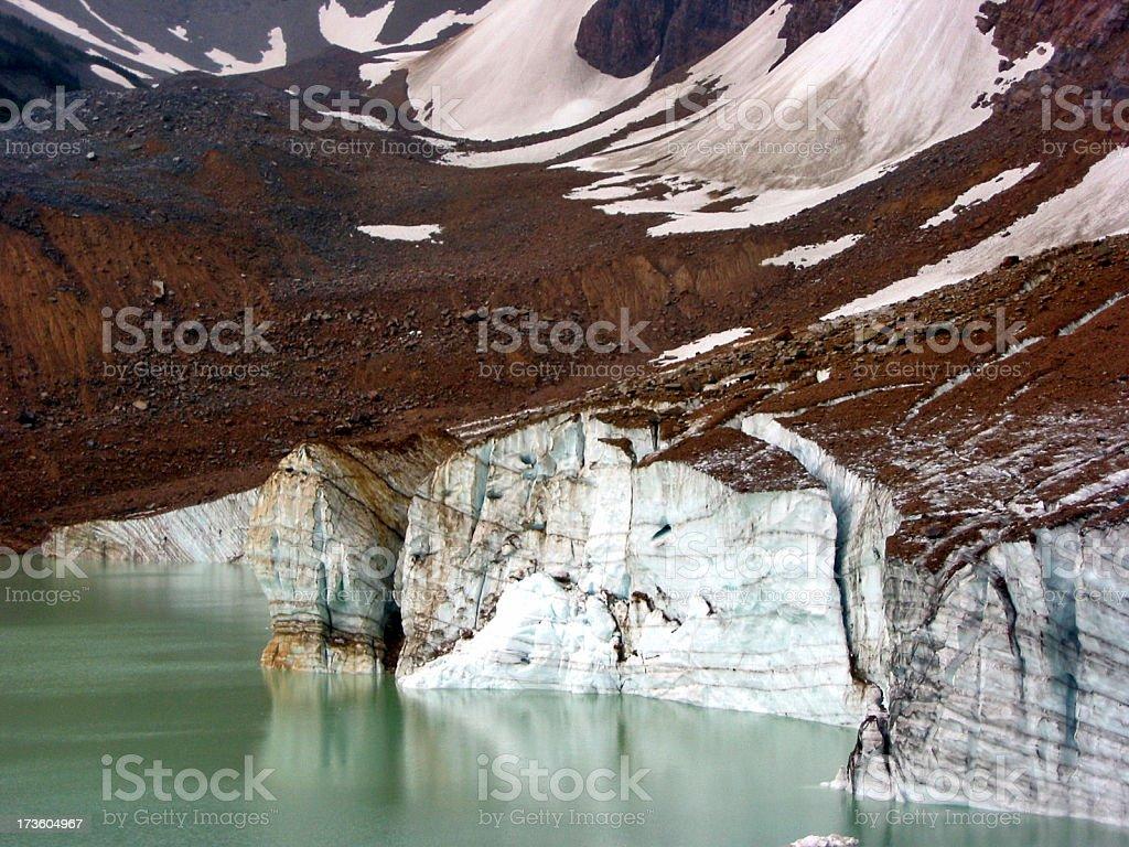Glacier and Lake royalty-free stock photo