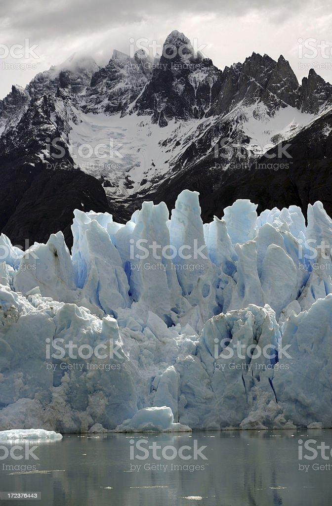 glacier and mountain stock photo