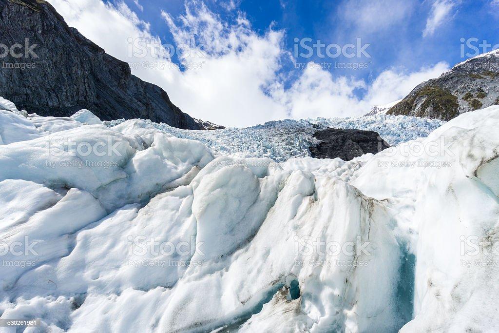 Glacier and Sky stock photo