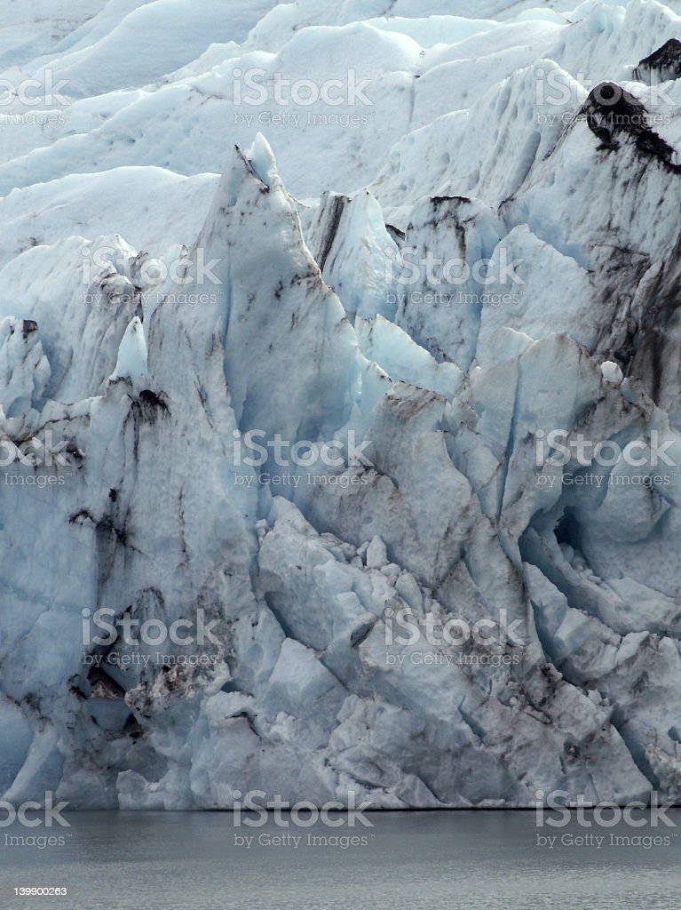 Glacier and water royalty-free stock photo