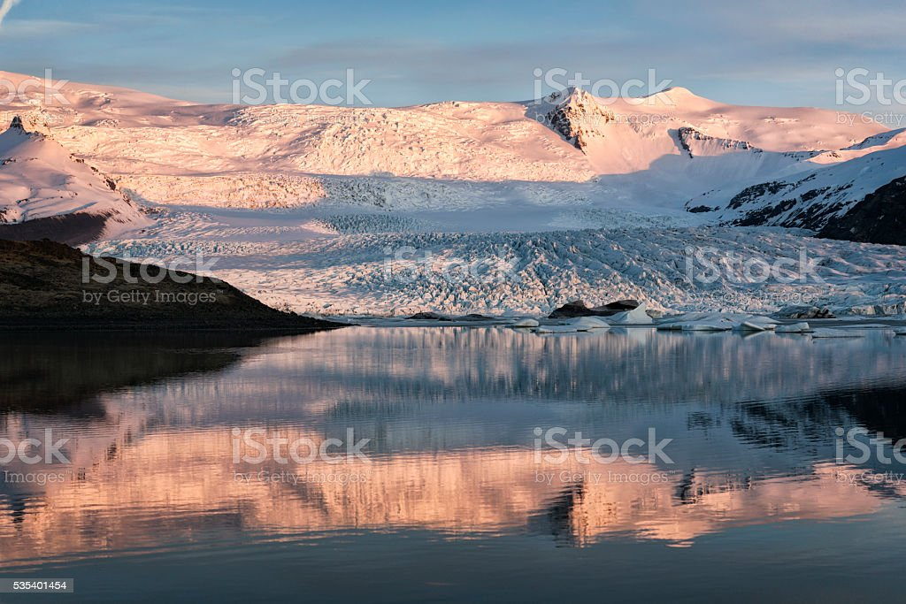 Glacier at Jokulsarlon, Iceland stock photo