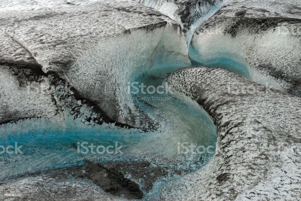 Glacier at Kverkfjoll, Iceland stock photo