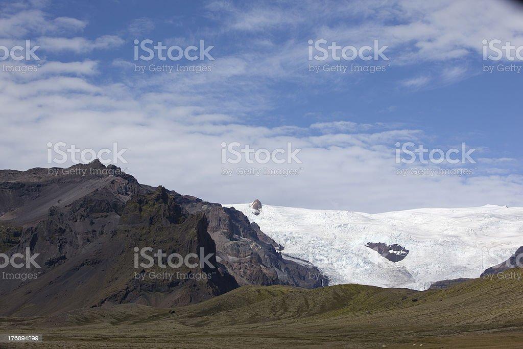 'Glacier at Skaftafell National Park, Iceland.' royalty-free stock photo