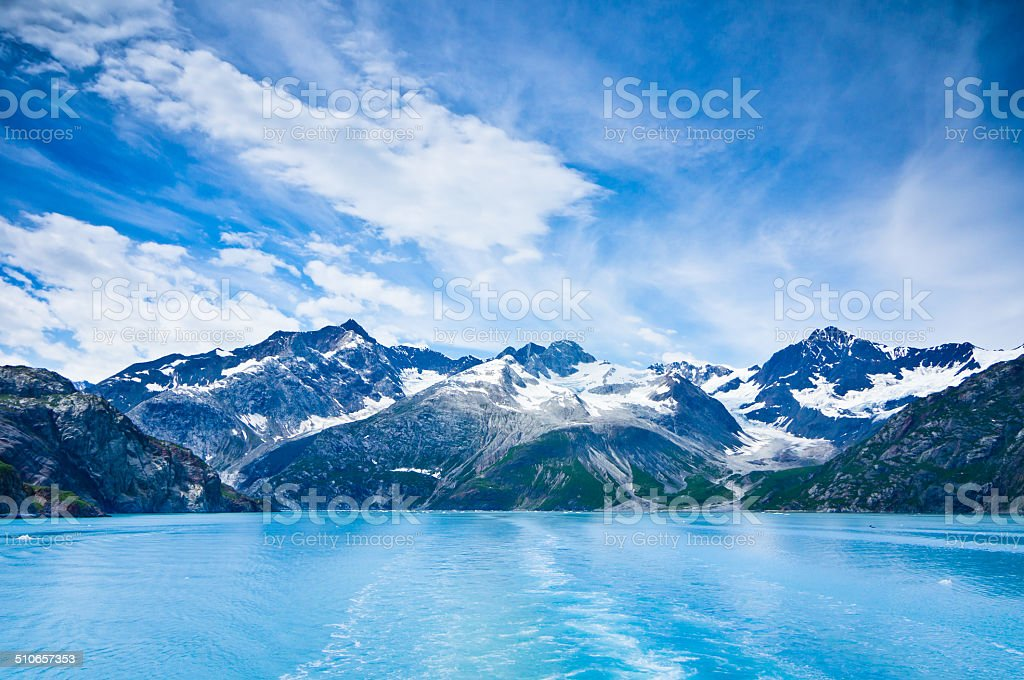 Glacier Bay in Mountains, Alaska, United States stock photo