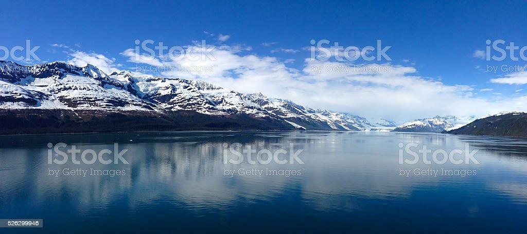 Glacier Bay National Park on a sunny day. stock photo