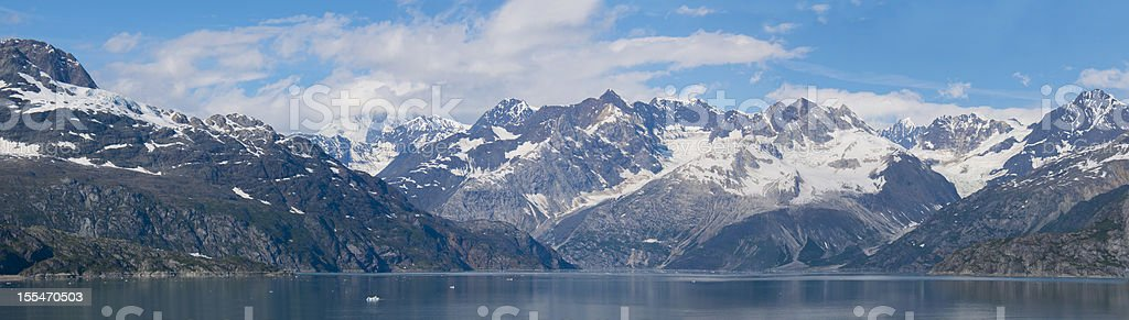 Glacier Bay National Park Panorama royalty-free stock photo
