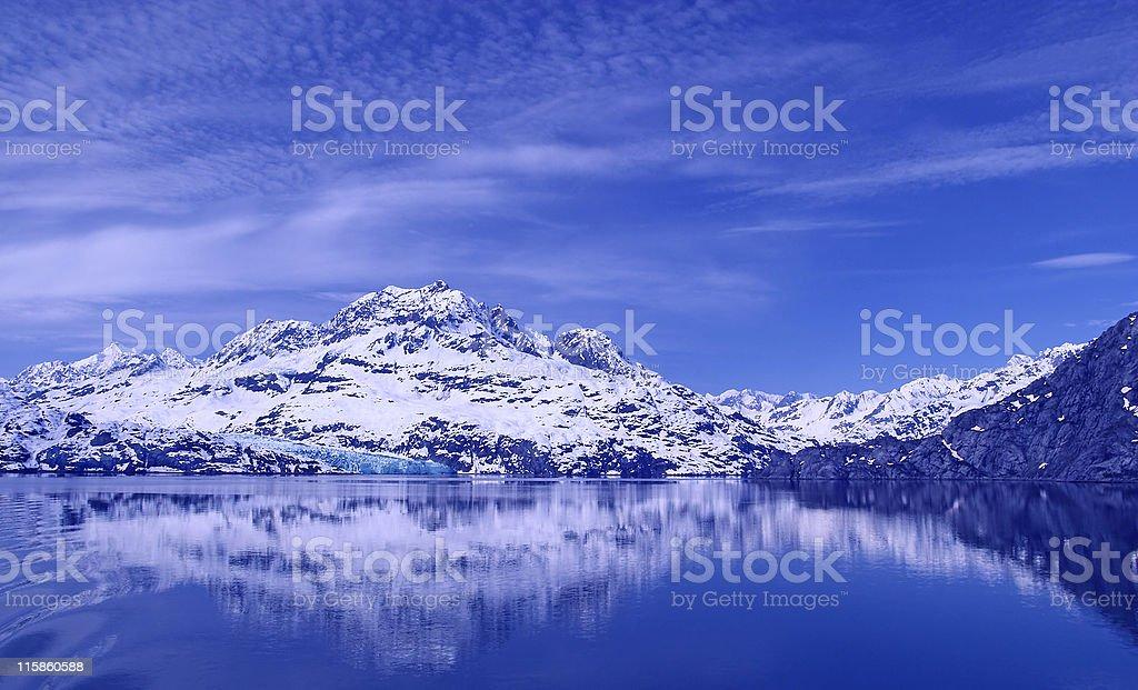 Glacier Bay Reflections royalty-free stock photo