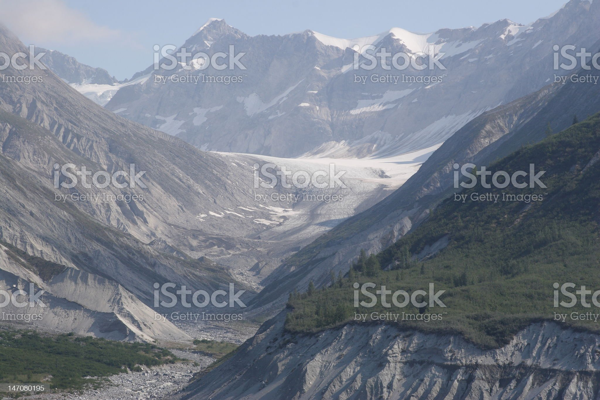 Glacier between two mountains royalty-free stock photo