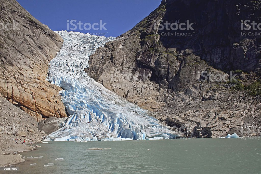 Glacier Briksdal royalty-free stock photo