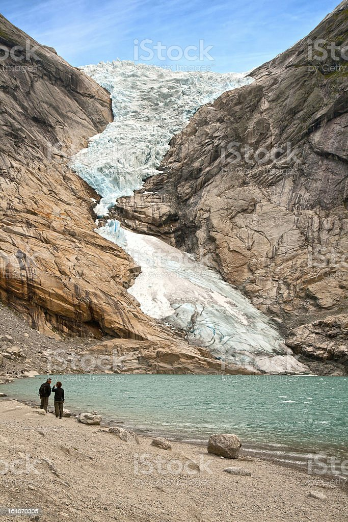 Glacier Briksdalen royalty-free stock photo