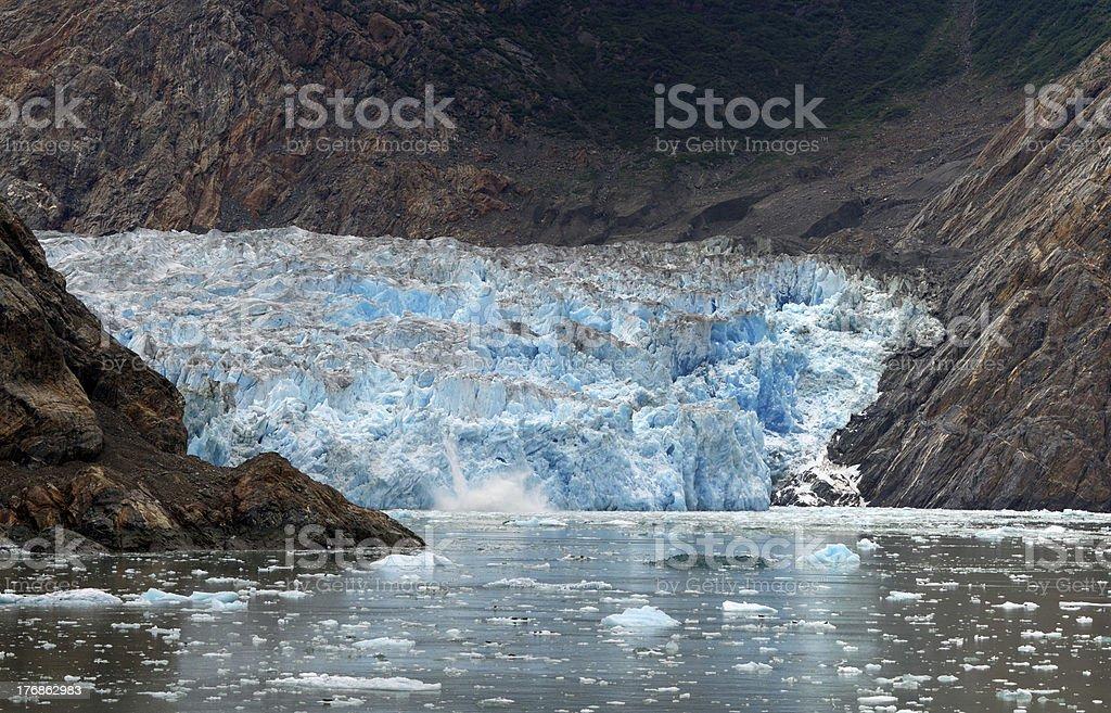 Glacier calving stock photo