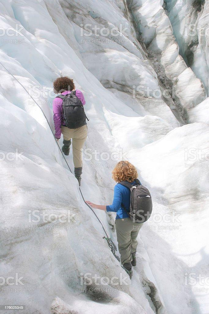 Glacier Climb royalty-free stock photo