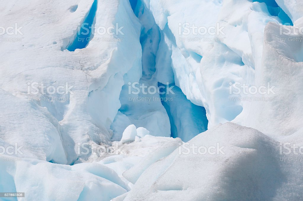 Glacier close-up stock photo