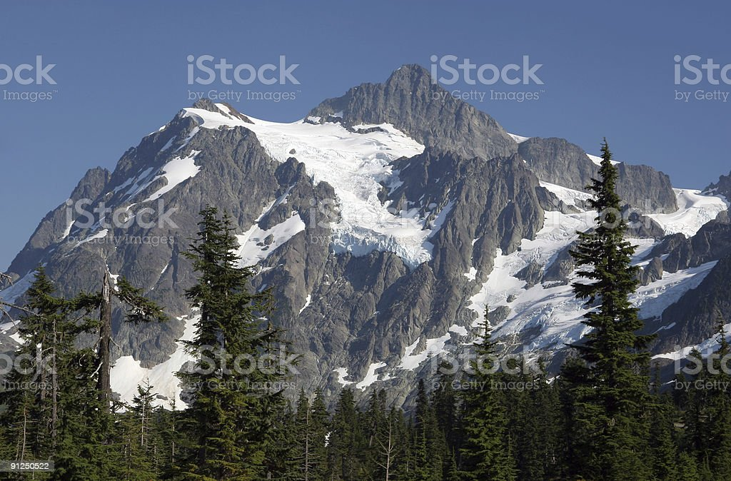 glacier covered mountain royalty-free stock photo