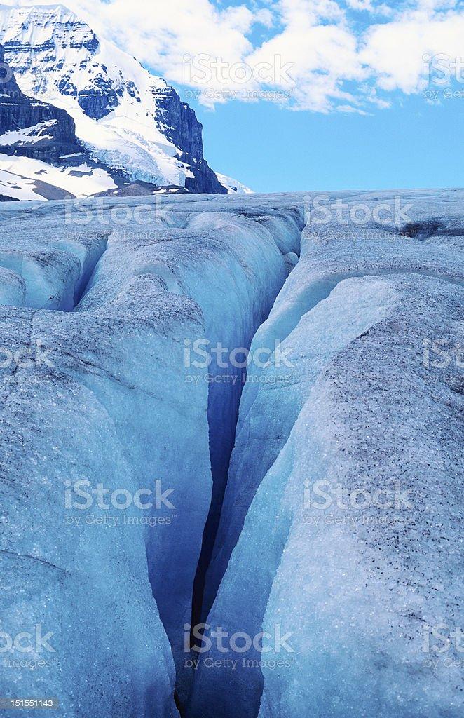 Glacier crevasse stock photo