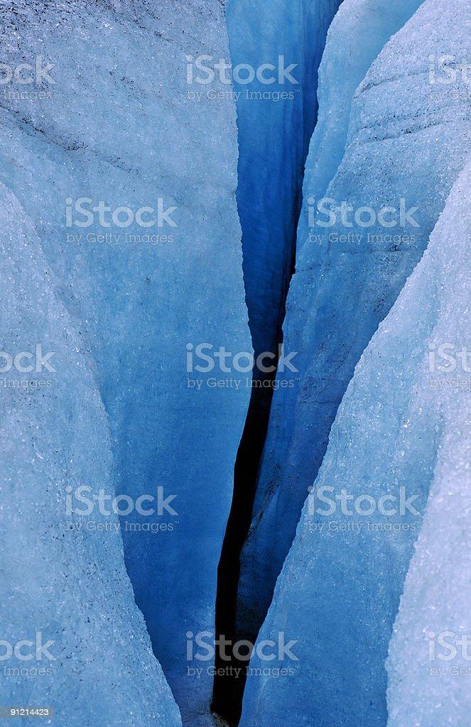 Glacier crevasse royalty-free stock photo
