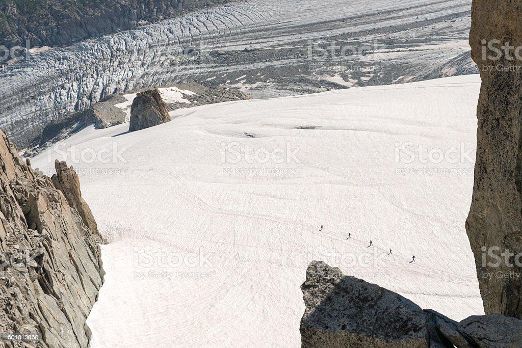 Glacier d'Argentière stock photo