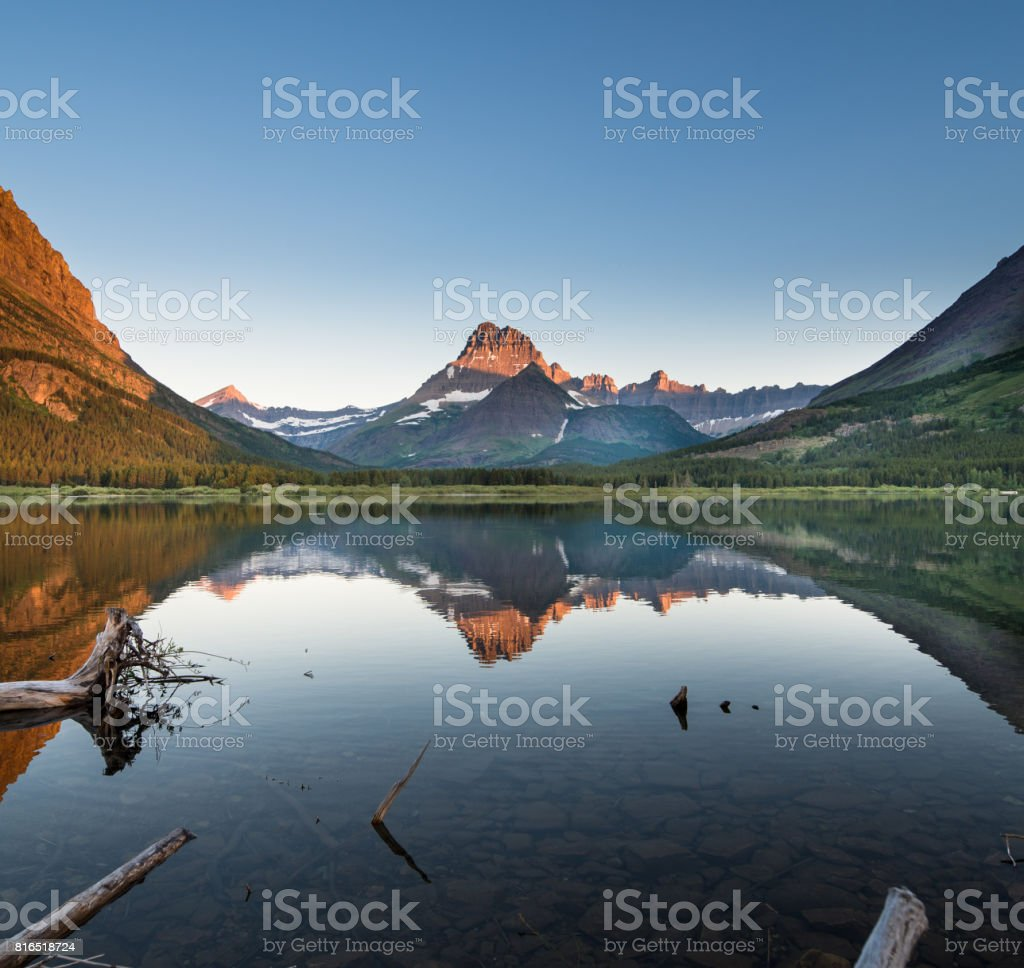 Glacier Dawning stock photo