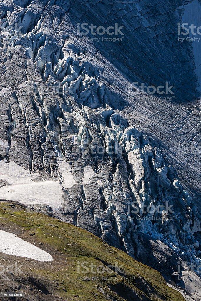 Glacier de Gietro details stock photo