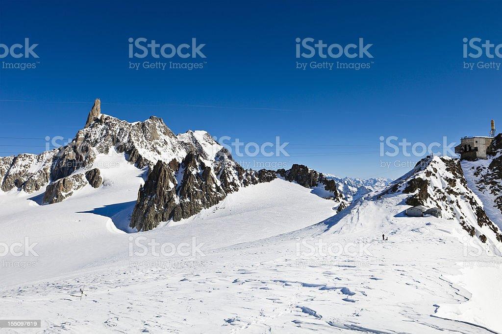 Glacier du Géant, Mont Blanc Massif stock photo