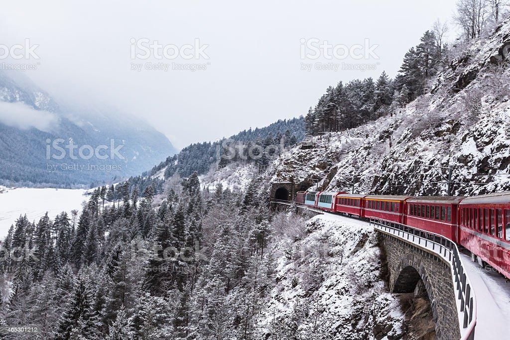 Glacier express, Switzerland stock photo
