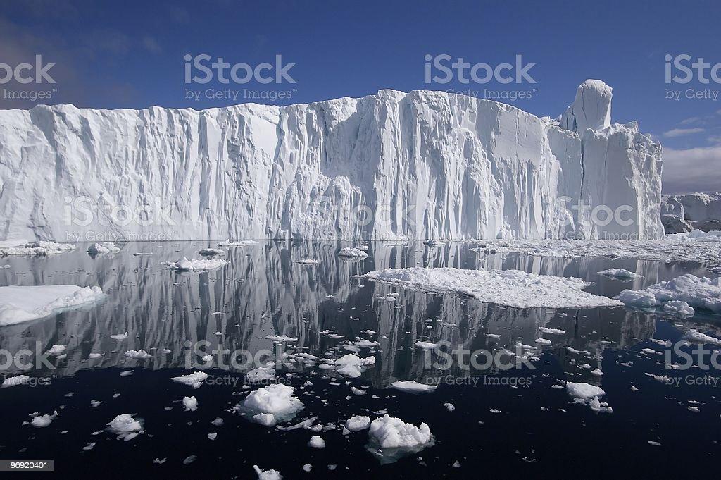 Glacier face royalty-free stock photo