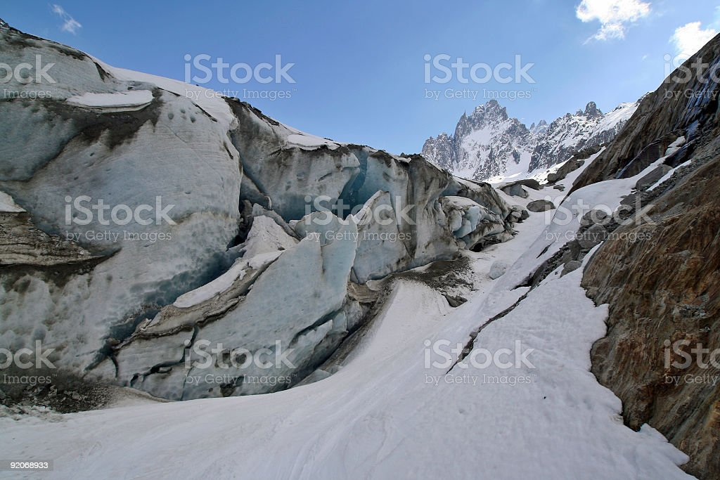 Glacier, from close up royalty-free stock photo