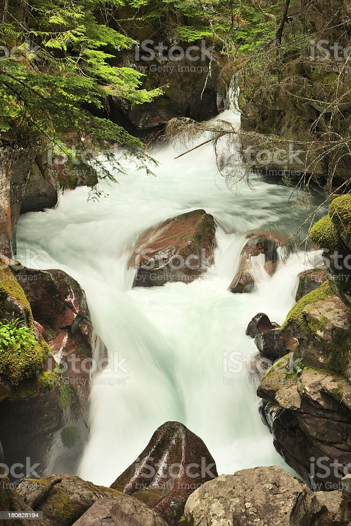 Glacier Gorge Waterfall Cascade royalty-free stock photo