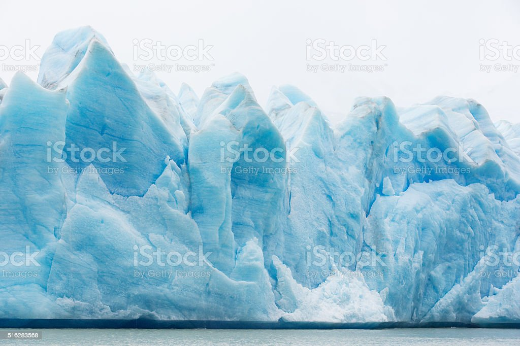 glacier grey in chile stock photo