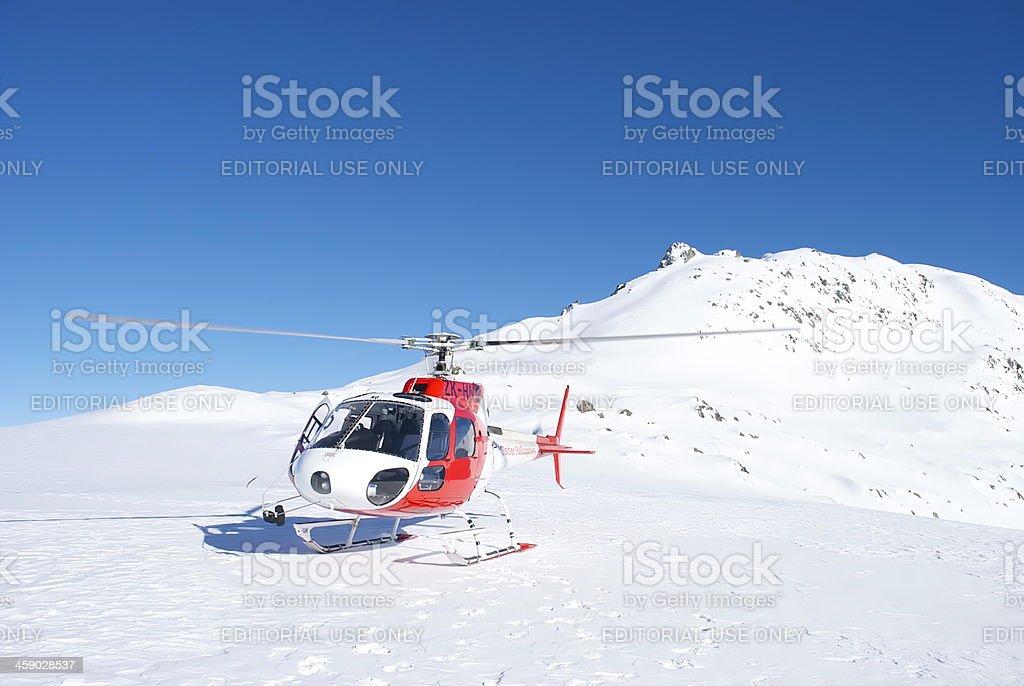 'Glacier Helicopter West Coast', Franz Joseph, New Zealand royalty-free stock photo