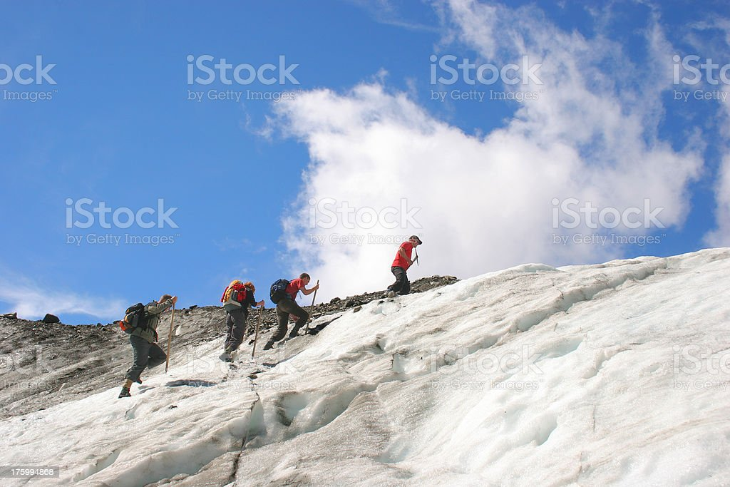 Glacier Hike royalty-free stock photo